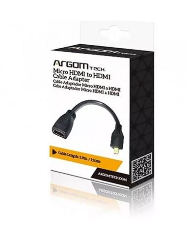 """Cable adaptador HDMI Argom Tech 6""""/15CM"""